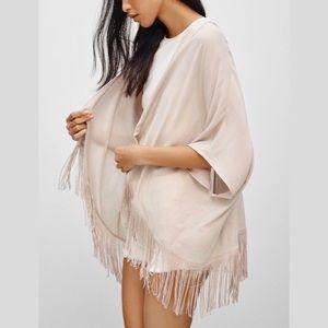Aritzia Fawkner Blouse Kimono S/M Gray